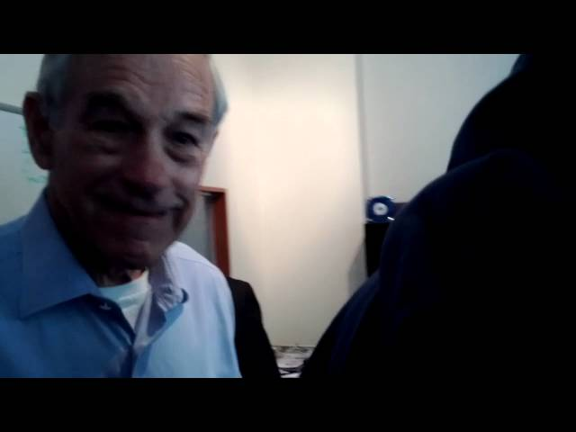 PRESIDENT Ron Paul inside Liberty HQ, Los Angeles
