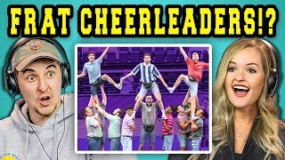 COLLEGE KIDS REACT TO MALE CHEERLEADING SQUAD?!