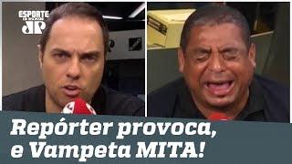 """""""VAI CHORAR pro Leco!"""" Repórter provoca, e Vampeta MITA na resposta!"""