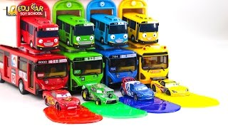 Learning Color with street vehicles Disney Pixar Cars Lightning McQueen Mack Truck for kids car toys