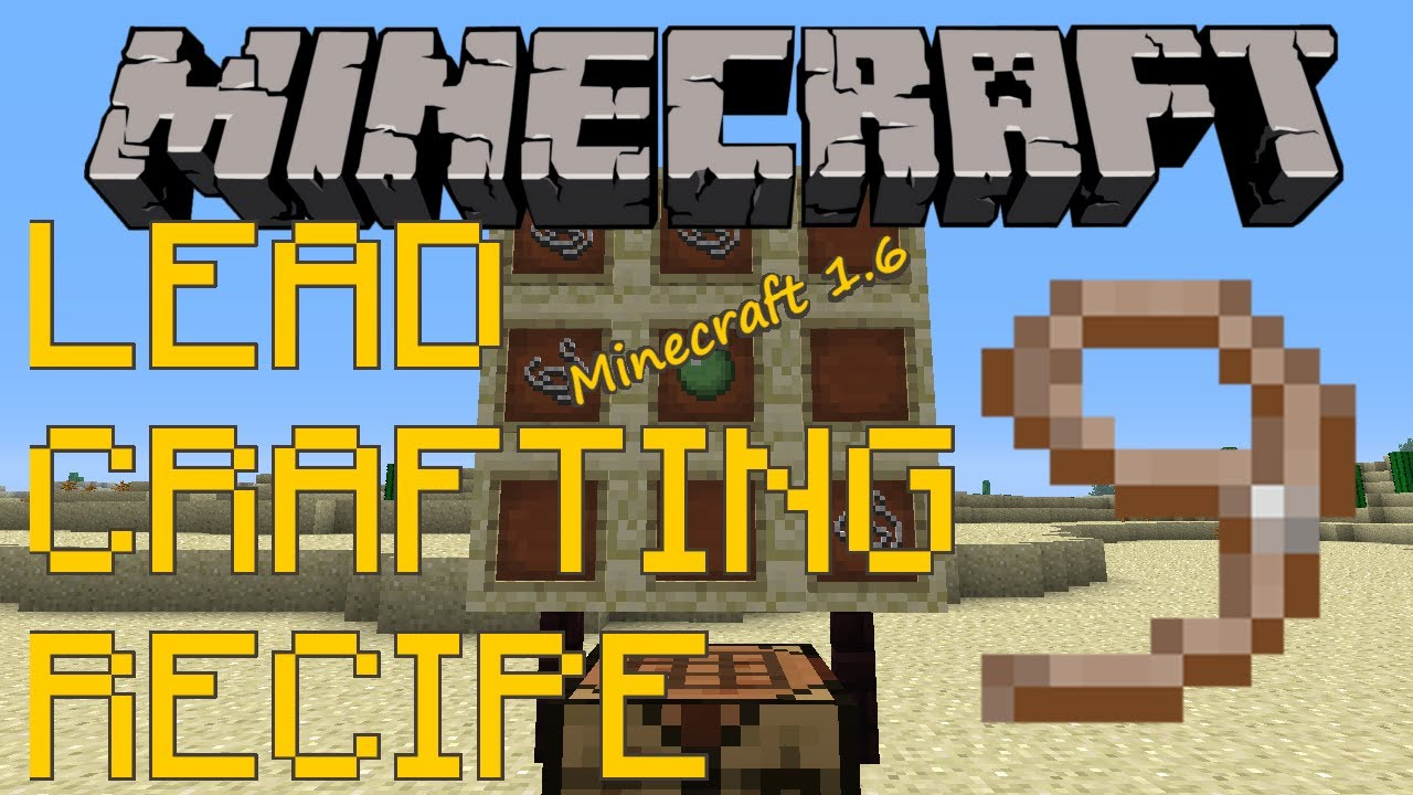How to craft use leads minecraft youtube for How do you craft in minecraft