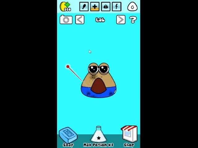 Hra pou - ukázky ze hry