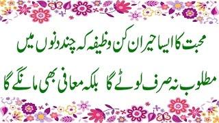 Muhabbat Pane Ka Wazifa/Kisi k dil me  mohabbat Dalne ka wazifa/By Maulana Mohammad Asghar Abbasi