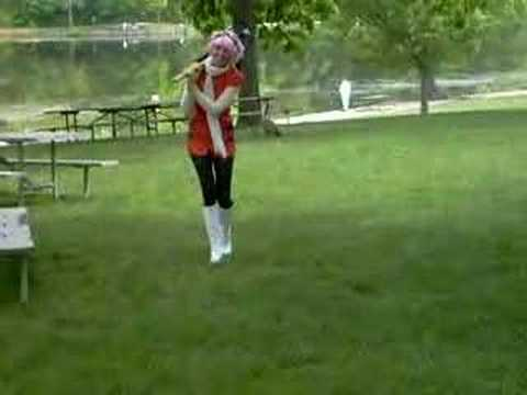 Haruko Haruhara chases Geese Video