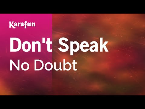 Karaoke Don't Speak - No Doubt * video