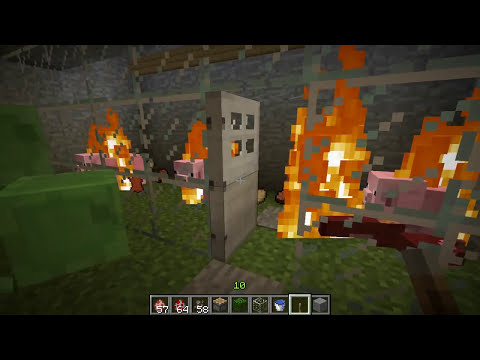 Tutorial - Como hacer un matadero de animales en Minecraft [Carne Cocida]
