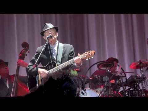Leonard Cohen sings the sisters of mercy at the olympic stadium in Amsterdam on August 22nd 2012.