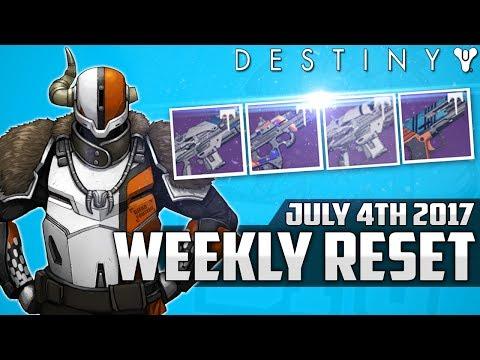 Destiny: July 4th 2017 Best Vendor Rolls This Week - July 4th Vendor Reset Recommendations