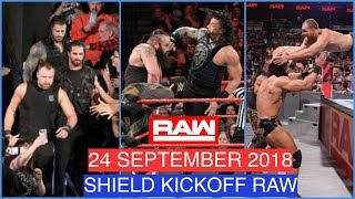 WWE RAW 24 SEPTEMBER 2018 HIGHLIGHTS - WWE RAW 09/24/18 SHIELD - WWE RAW 25/9/18 HIGHLIGHTS