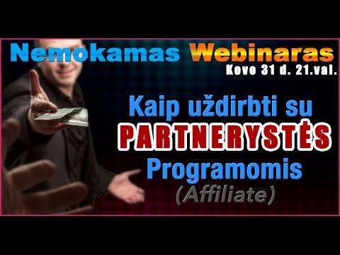 Webinaras – Kaip Uždirbti Su Partnerystės Programomis (Affiliate)