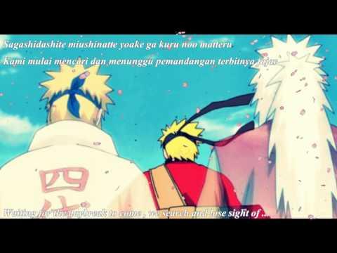 Naruto Shippuden ED 38 Pino to ameri FULL Lyric INDO+English