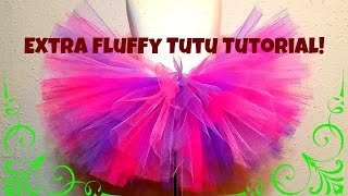 HOW TO MAKE A NO SEW TUTU - Extra fluffy!!