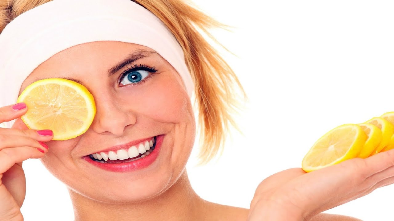 Осветление волос лимоном на лице