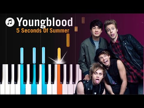 """5 Seconds Of Summer - """"Youngblood"""" Piano Tutorial - Chords - How To Play - Cover"""