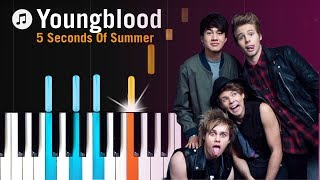 """Download Lagu 5 Seconds Of Summer - """"Youngblood"""" Piano Tutorial - Chords - How To Play - Cover Gratis STAFABAND"""