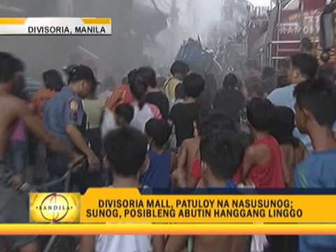 Divisoria Mall fire may last until Sunday