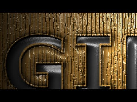 GIMP 2.8 Tutorial - Pressed Text