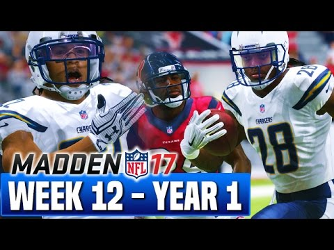Madden 17 Chargers Franchise Year 1 - Week 12 @ Texans - Ep.12