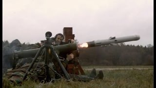 First firing Spike MR anti-tank anti-armour guided missile by soldiers of Belgian Army Belgium