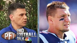 Rob Gronkowski retiring as best TE of all time, says Florio | Pro Football Talk | NBC Sports