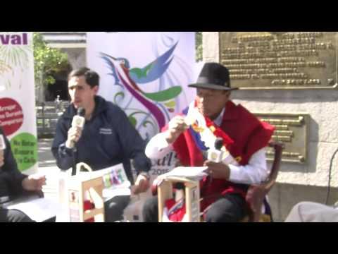 Alcalde de Guaranda y el Tayta carnaval 2015 fueron entrevistados por radio Pública del Ecuador
