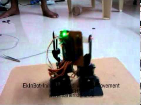 Ekinbot-Initial forward walking movement 04-08-11 (Video 1) (www.harikrishnan.tk)