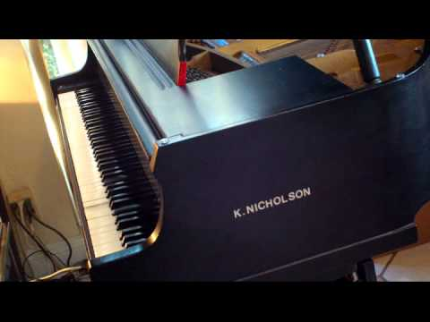 K.Nicholson Baby Grand Piano KNM1Dse Playing Liberace Chop Sticks.avi