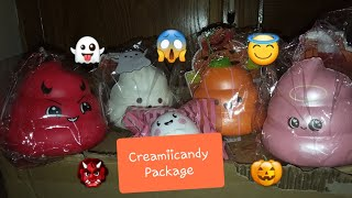 NEW HALLOWEEN SQUISHIES! CREAMIICANDY PACKAGE!👻🎃😇👹