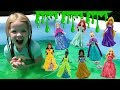 MagiClips and Glitter Gliders Slime Challenge ~ Maya's Playing with Princesses