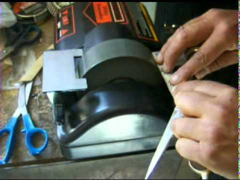 Maquina para afilar tijeras