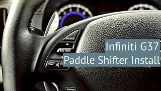 G37 How to Install Paddle Shifters| infiniti g37 sedan
