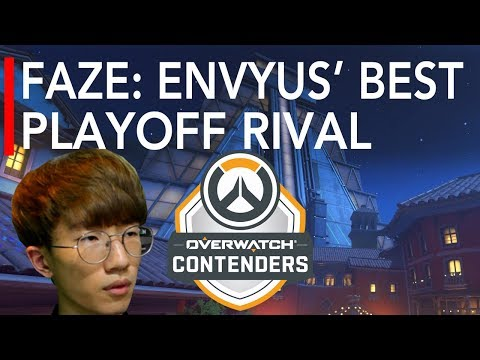 Overwatch Gameplay | FaZe : EnVyUs' Best Playoff Rival VS EnVision - Carpe Tracer Genji | Contenders