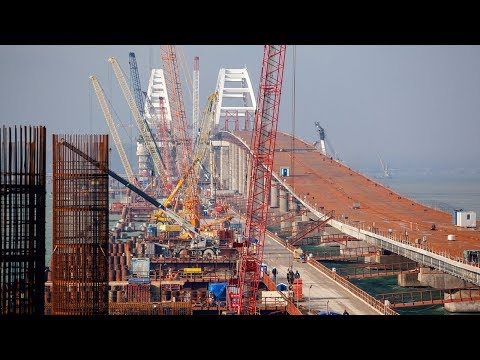ЕДЕМ ПО ГОТОВОМУ АВТО ПОДХОДУ до крымского моста!! Авто подходы Керчь март 2018 НОВИНКА