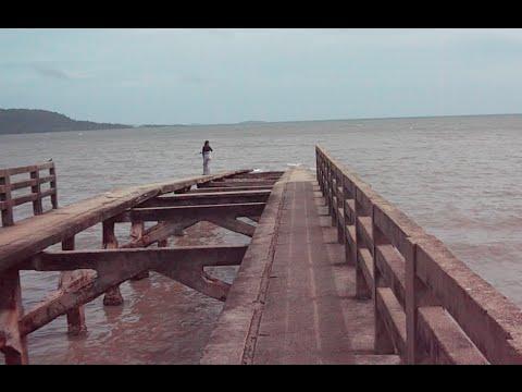 Old Bridge into the Sea at Kep Beach City in Cambodia