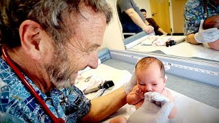 6 DAY OLD NEWBORN CHECK UP (Cute Baby Alert) | Dr. Paul