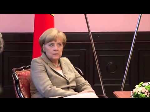 Angela Merkel and Arseniy Yatsenyuk met in Kyiv   YouTube 720p
