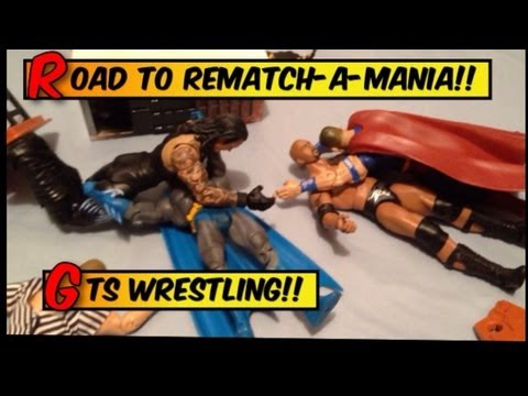 GTS WRESTLING: Road to Wrestlemania parody WWE mattel action figure matches stop motion animation