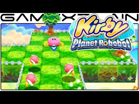 Kirby: Planet Robobot - Kirby 3D Rumble Gameplay (60fps Direct Feed 3DS)