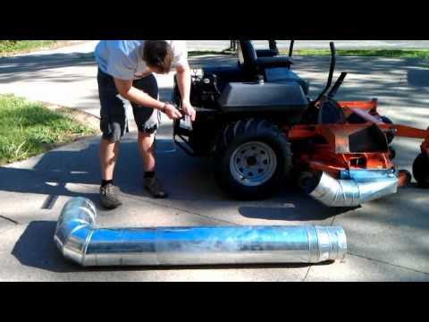 Hillbilly Bling - Homemade leaf vacuum attachment