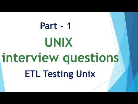 UNIX & Linux interview questions for ETL Testing Part 1