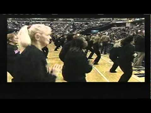 JAZZERCISE performs at the Indiana Pacers Game