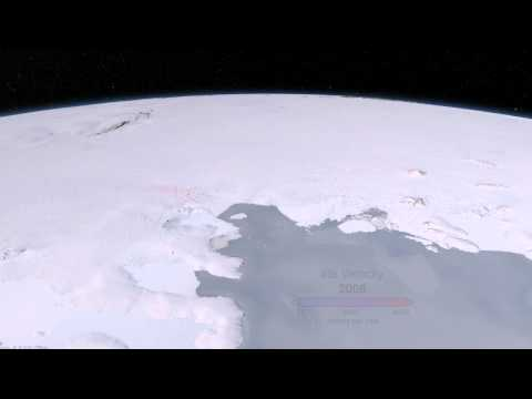Changes in Glaciers and Ice Flow in West Antarctica, Animation