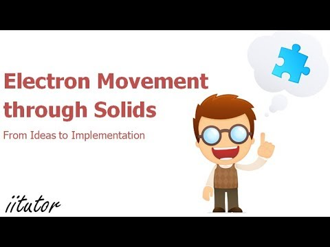 √ Electron Movement through Solids - Energy Bands and Semiconductors - From Ideas to Implementation