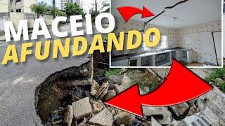 Maceió a cidade que afunda dia após dia. Alagoas, Brasil