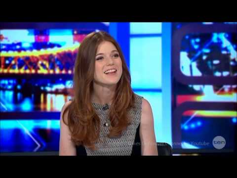 "Rose Leslie ""Game of Thrones"" LIVE Australia Tv Studio Interview February 17, 2014"