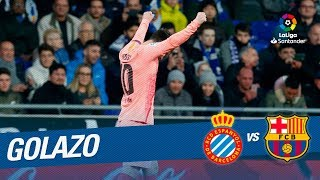 Golazo de Leo Messi (0-1) RCD Espanyol vs FC Barcelona