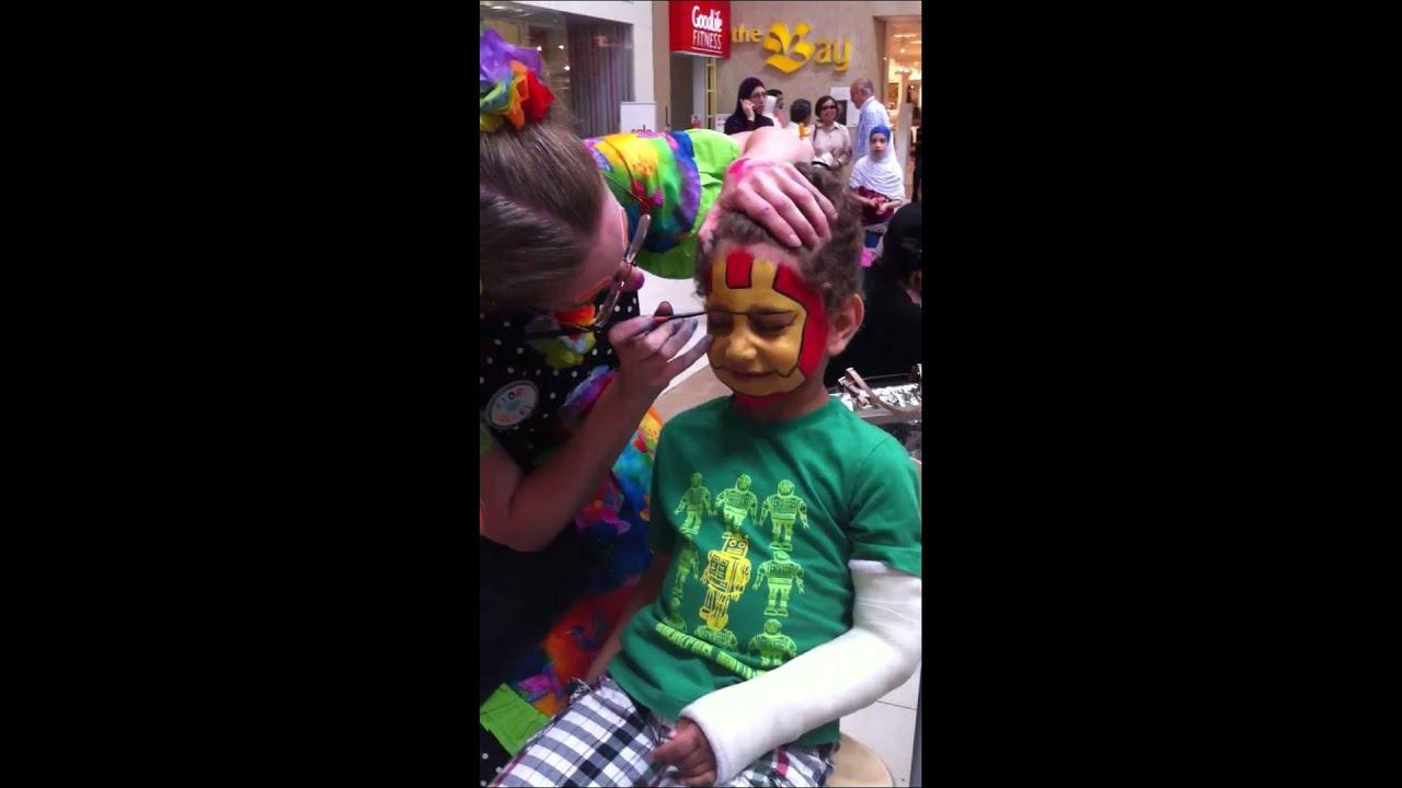 Iron Man Face Paint Iron Man Face Painting