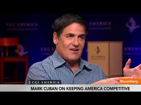 June 14 (Bloomberg) -- Entrepreneur Mark Cuban discusses the U.S. Economy and starting a business with Trish Regan at the Clinton Global Initiative in Chicag...