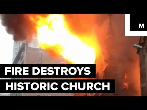 Fire Destroys Historic New York City Church