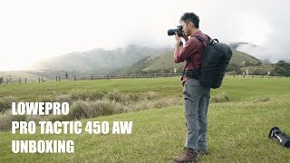 The Perfect Camerabag? Lowepro Pro Tactic 450 AW Unboxing